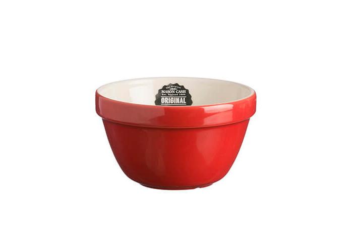 Mason Cash colour Mix S36 Red Chip Resistant Earthenware All purpose Pudding Basin Bowl 16cm Diameter - 2