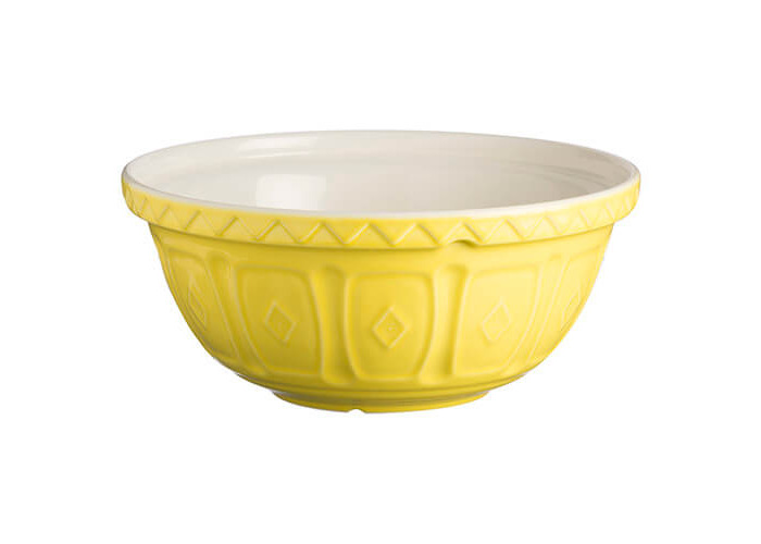 Mason Cash S12 colour Mix Bright Yellow Chip Resistant Earthenware Mixing Bowl 29cm Diamete - 1