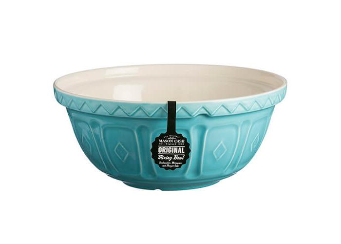 Mason Cash S12 colour Mix Turquoise Chip Resistant Earthenware Mixing Bowl 29cm Diameter - 2