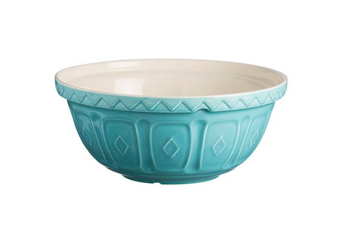Mason Cash S12 colour Mix Turquoise Chip Resistant Earthenware Mixing Bowl 29cm Diameter - 1