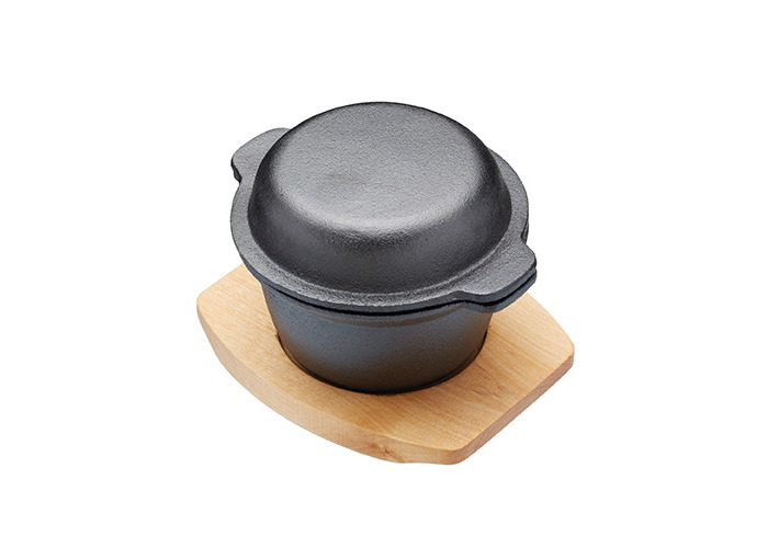 Master Class 300 ml Artesa Cast Iron Mini Pot with Maple Wood Serving Board - 1