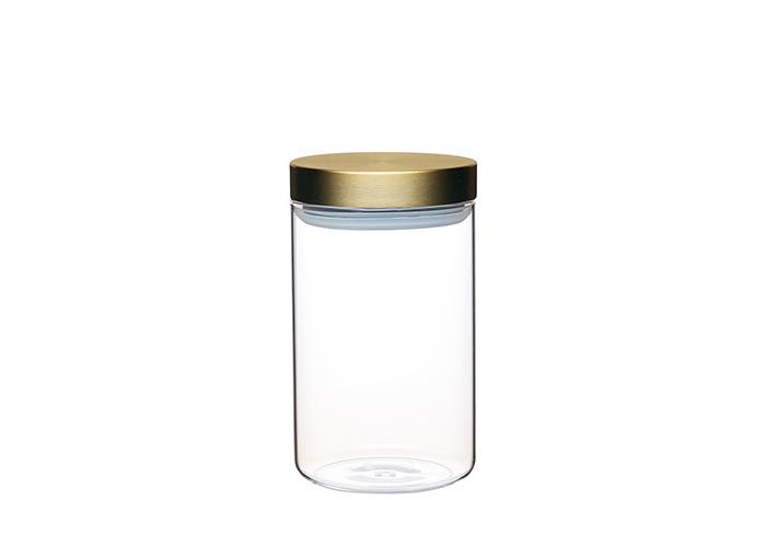 Master Class Airtight Glass Food Storage Jar with Brass Lid, 1 L (1.75 pts) - 1