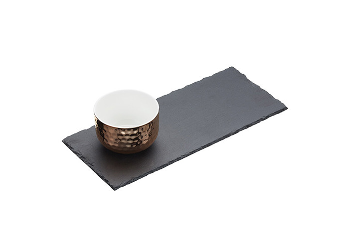 Master Class Artesà Slate Serving Tray and Copper-Finish Bowl Set - 1