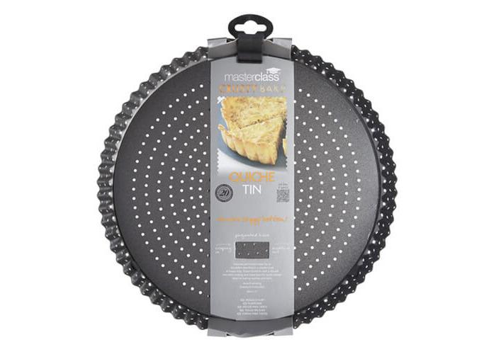 "Master Class Crusty Bake Non-Stick Loose Base Fluted Tart Tin / Quiche Pan, 28 cm (11"") - 2"