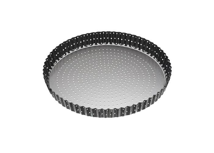 "Master Class Crusty Bake Non-Stick Loose Base Fluted Tart Tin / Quiche Pan, 28 cm (11"") - 1"