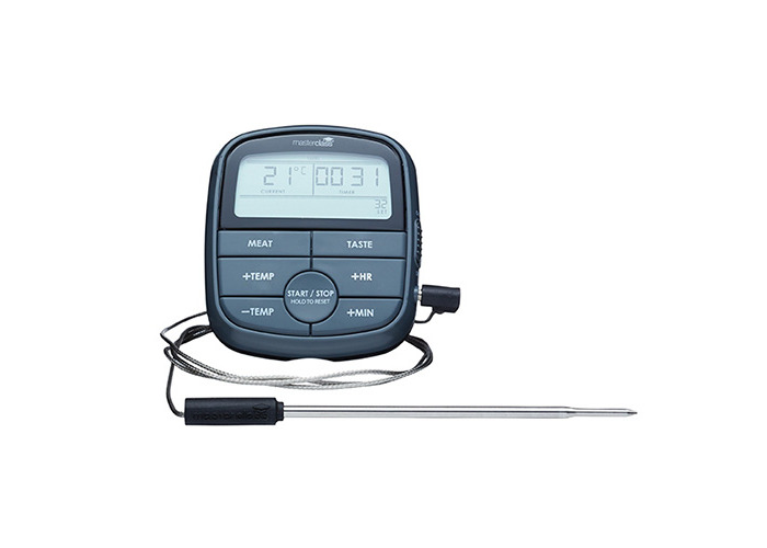 Master Class Digital Cooking Thermometer with 24 Hour Timer, Black - 1