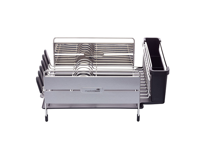 """Master Class Large Deluxe Stainless Steel Dish Drainer Rack, 44.5 x 32 x 19.5 cm (17.5"""" x 12.5"""" x 7.5"""") - 1"""