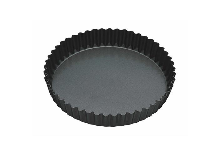"Master Class Non-Stick Fluted Loose Base Quiche Tin Round 25cm (10"") - 1"