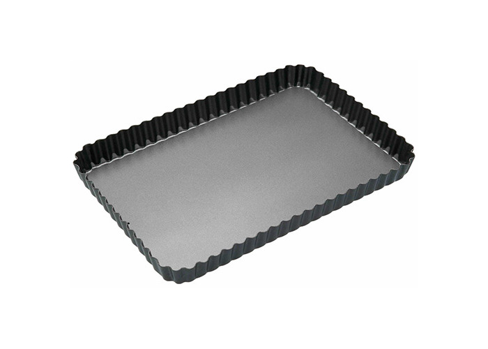 Master Class Non-Stick Fluted Rectangular Flan / Quiche Tin, 31 x 21 x 2.5cm - 1