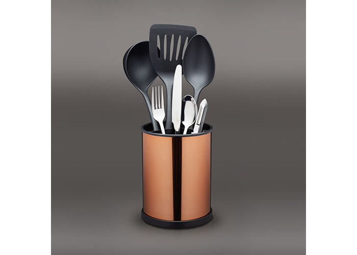 Master Class Rotating Kitchen Utensil Holder, 18.5 x 14 cm - Copper Effec - 2