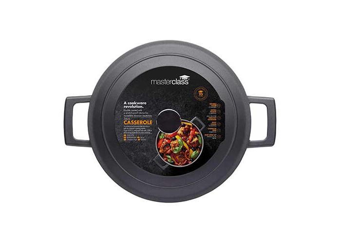 MasterClass Cast Aluminium Induction-Safe Non-Stick Casserole Dish, 4 L (7 pts) - Black - 2