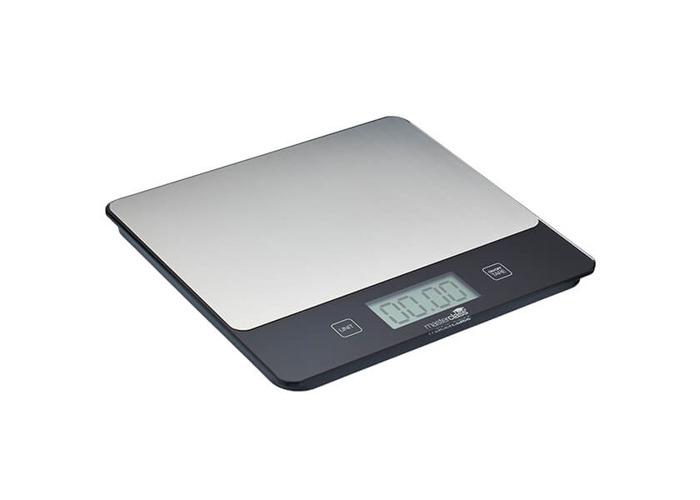 MasterClass 'Dry & Liquid' Rectangular Digital Kitchen Scales, 5 kg / 5 L Capacity - 1