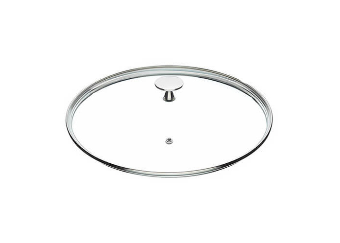 "MasterClass Tempered Glass Saucepan Lid with Stainless Steel Handle, 24 cm (9.5"") - 1"