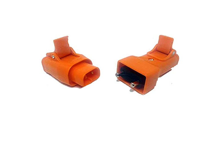 Masterplug Mains Lead 10A 250V Inline Plug & Socket for Connectors Flymo Qualcast Black & Decker Lawnmowers Hedge & Grass Trimmers (Plug and Socket) - 1