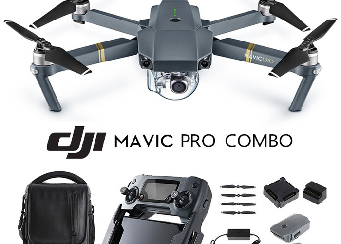 Mavic Pro 4k Drone - with 4 batteries, carry case and lens (fly more kit) - 1