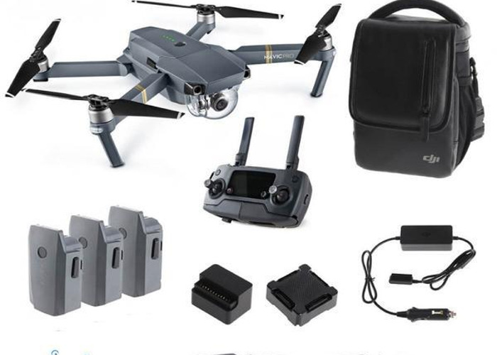 Mavic Pro 4k Drone - with 4 batteries, carry case and lens (fly more kit) - 2