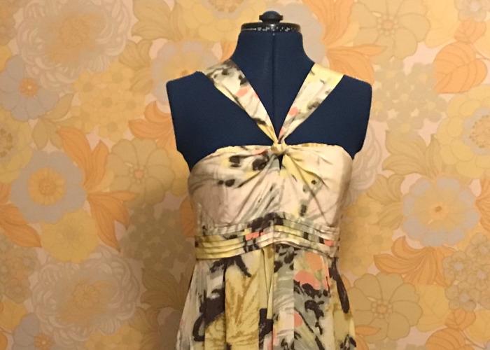 Maxi Floral Halter Dress - 1