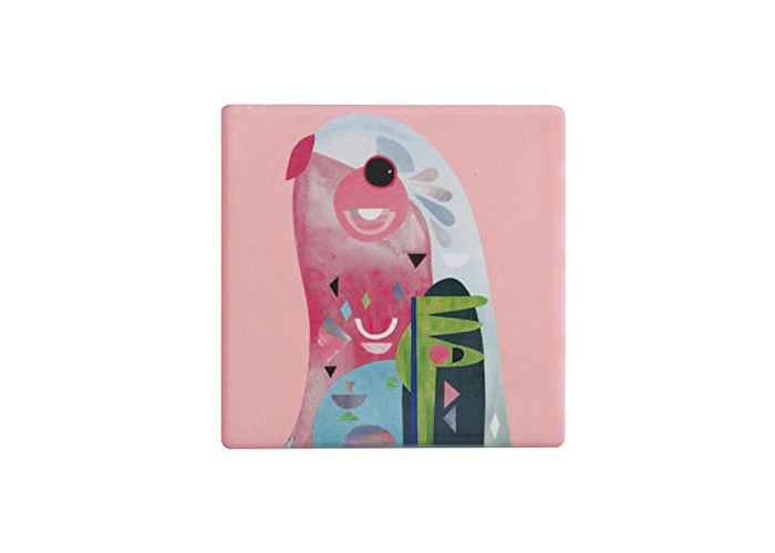 Maxwell & Williams Pete Cromer Ceramic Square 9.5cm Coaster Parrot - 1