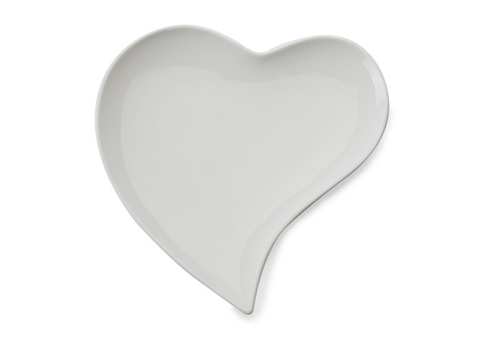 Maxwell & Williams White Basics Heart Plate 21cm - 1