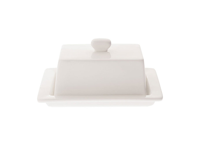 Maxwell and Williams White Vogue Butter Dish - 1