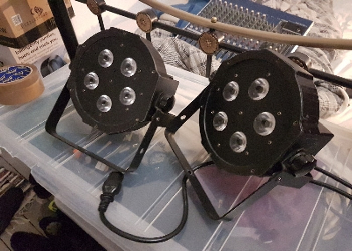 Mega Tri PAR Prifile lights pair - 1