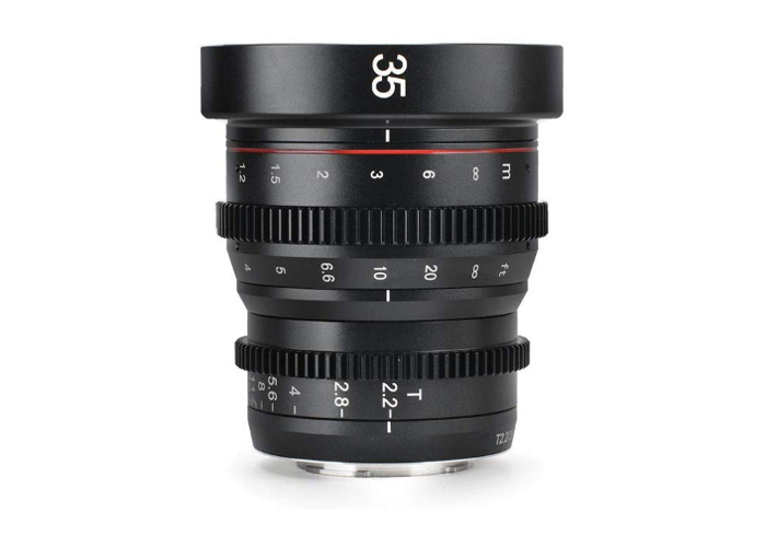 Meike 35mm T2.2 Cine Prime Cinema Lens for M43 Micro Four Th - 1