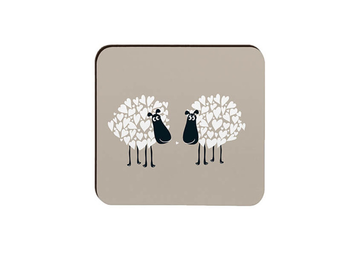 Melamaster Moulded Coaster Pack Of 4 Sheep - 2