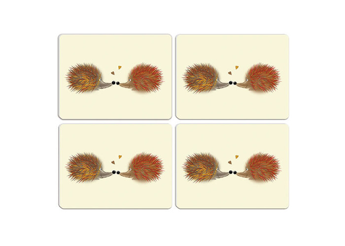 Melamaster Moulded Pack Of 4 Placemat Hedgehog - 1