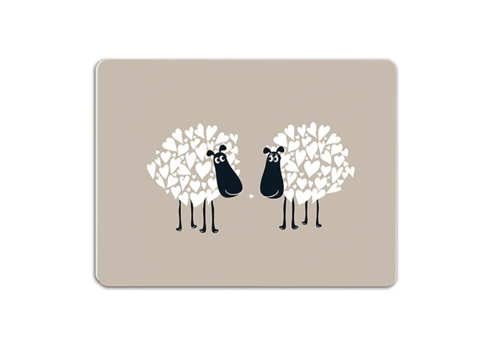 Melamaster Moulded Pack Of 4 Placemat Sheep - 2