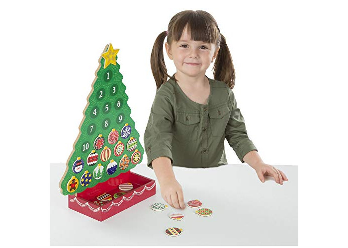 Melissa & Doug Countdown to Christmas Wooden Advent Calendar (Seasonal & Religious, Magnetic Tree, 25 Magnets) - 2