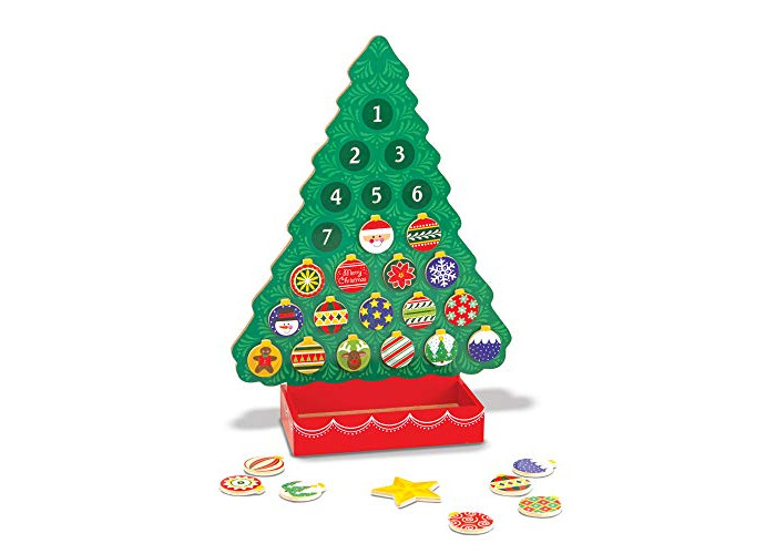 Melissa & Doug Countdown to Christmas Wooden Advent Calendar (Seasonal & Religious, Magnetic Tree, 25 Magnets) - 1