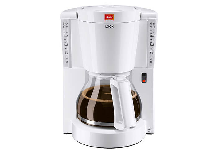 Melitta Look IV, 1011-01, Filter Coffee Machine with Glass Jug, Aroma Selector, White - 1