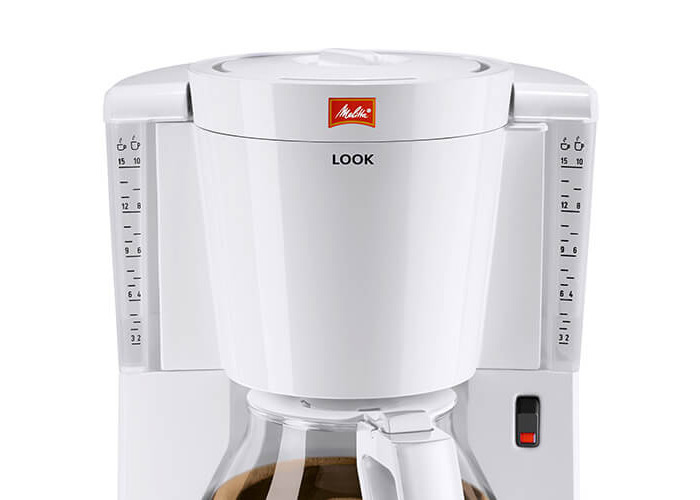 Melitta Look IV, 1011-01, Filter Coffee Machine with Glass Jug, Aroma Selector, White - 2