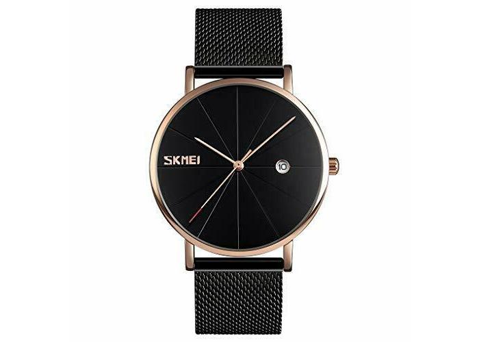 Men Quartz Watches- eYotoo Ultra Thin Waterproof Fashion Wrist Watch with Stainl - 2