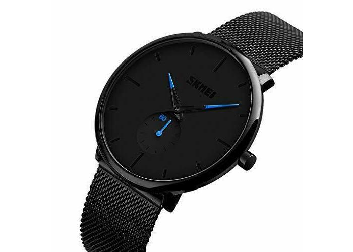 Men Quartz Watches- eYotoo Ultra Thin Waterproof Fashion Wrist Watch with Stainl - 1