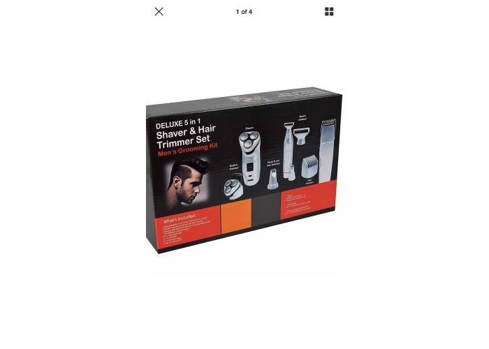 Men's Cordless Rechargeable Grooming Set Shaver & Hair Clipper Beard Trimmer 5n1 - 1
