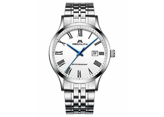 Mens Stainless Steel Watches Men Luxury Waterproof Calendar Date Classic Simple  - 1