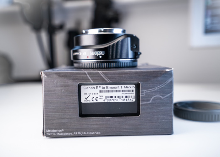 Metabones IV E-mount body to Canon Lens adaptor  - 1