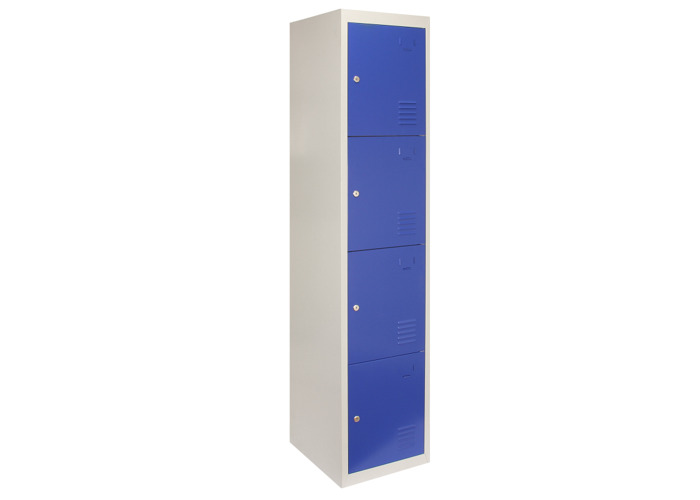 Metal Storage Lockers - Four Doors (Blue) | 450mm(d)x380mm(w)x1800mm(h) - 1