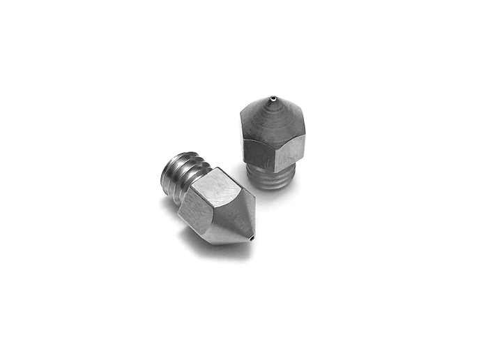 Micro Swiss - MK8 Plated Wear Resistant Nozzle 0.2 mm - 1