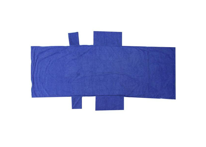Beach Pool Lounge Chair Towel Cover with Convenient Side Storage Pockets (Blue) 211 Beach Lounge Chair Cover Towel