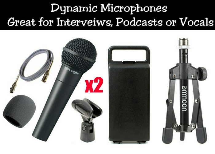 Microphone Kit | 2 Mics - Ideal for Podcast / Interviews & Vocals  - 1