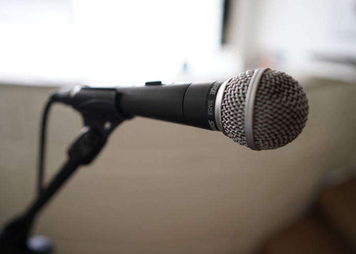 Microphone SM58 with mic stand and XLR cable - 1