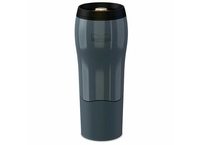Mighty Mug Go - The Travel Mug That Won't Fall Over (0.47 Litre), Charcoal - 1