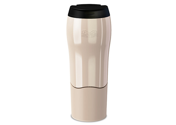 Mighty Mug Go - The Travel Mug That Won't Fall Over (0.47 Litre), Pearl - 1