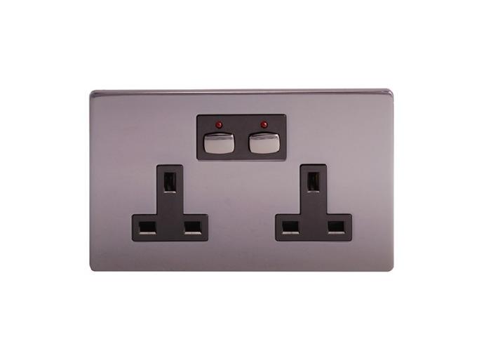 MiHome Smart Double Socket, Nickel - 1