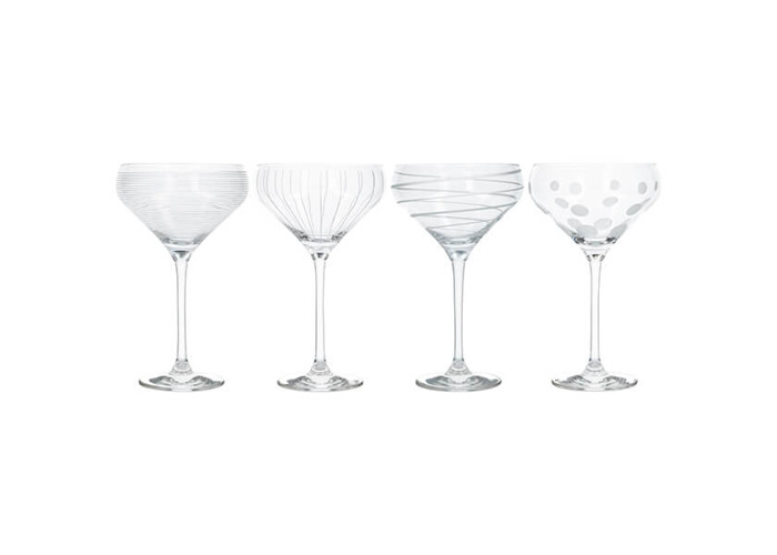 Mikasa Cheers Set Of 4 Champagne Saucers - 1
