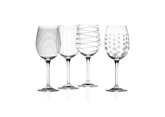 Mikasa Cheers Set Of 4 White Wine Glasses - 1
