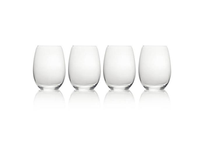 Mikasa 'Julie' Luxury Lead-Free Crystal Stemless Wine Glasses, 561 ml – Clear (Set of 4) - 1