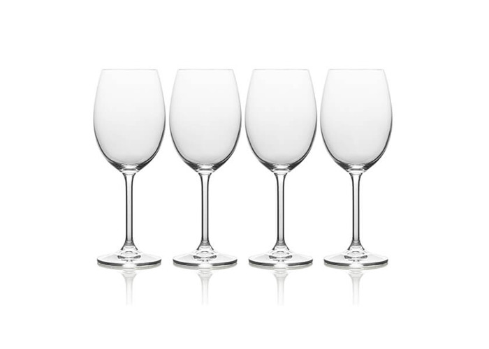 Mikasa 'Julie' Luxury Lead-Free Crystal White Wine Glasses, 468 ml - Clear (Set of 4) - 1